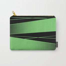 Black and green Carry-All Pouch
