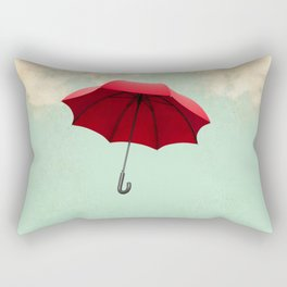 Red Umbrella Rectangular Pillow
