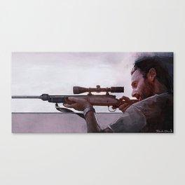 Rifleman Rick Grimes - The Walking Dead Canvas Print