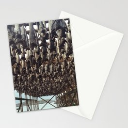 drying fish Stationery Cards