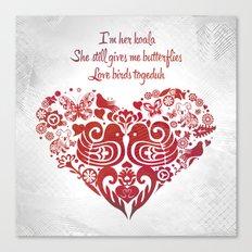 Baybeh Heart Haiku Canvas Print