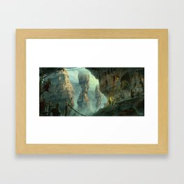 LOST MOUNTAINS Framed Art Print