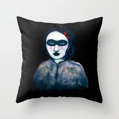 Carnival Lady Throw Pillow