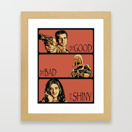 The Good, the Bad, and the Shiny - Firefly Framed Art Print