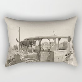 Man's Best Friend - A Vintage Photograph Rectangular Pillow