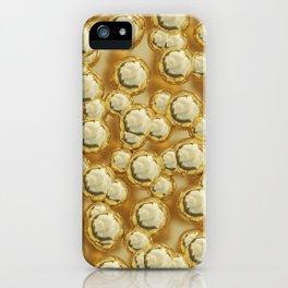 Golden bubbles iPhone Case