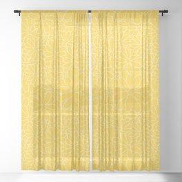 Wildflower Lines Sheer Curtain
