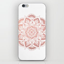 Flower Rose Gold Mandala iPhone Skin