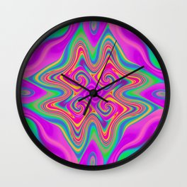 Flames in multi color 05 Wall Clock