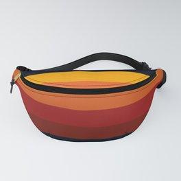 Navy & Orange Rainbow Stripes Fanny Pack