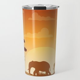 Abstract African Safari Travel Mug
