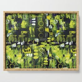 Northern Lights Abstract Painting Serving Tray