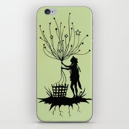 She Spins The Stars iPhone Skin