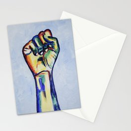 LGBTQ Resist Fist, LGBT artwork, resist artwork Stationery Cards