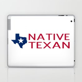 Native Texan with Texas Shape and Star Laptop & iPad Skin