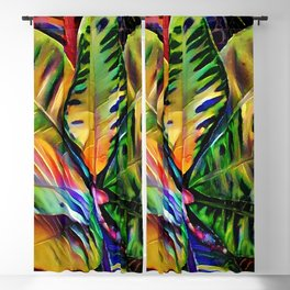 Colorful Tropical Leaves Blackout Curtain