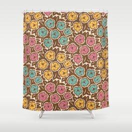 Mid Century Modern Flower Bouquet Pattern 953 Shower Curtain