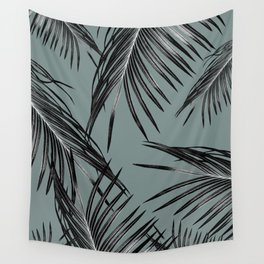 Black Palm Leaves Dream #4 #tropical #decor #art #society6 Wall Tapestry
