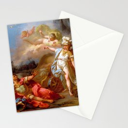 "Jacques-Louis David ""Combat between Minerva and Mars"" Stationery Cards"