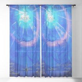 Zodiac sign Pisces Sheer Curtain
