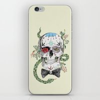 calavera iPhone & iPod Skins featuring Calavera by Barbara Azul