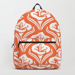 Calla Lily Pattern Orange Backpack