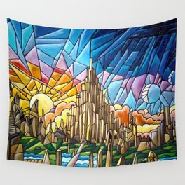 Asgard stained glass style Wall Tapestry