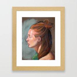 Pastel Portrait Study Framed Art Print