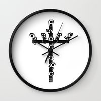 new order Wall Clocks featuring new world order by 7115