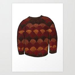 Season 3, Episode 14 (full sweater) Art Print
