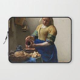 The Milkmaid (ca 1660) by Johannes Vermeer Laptop Sleeve