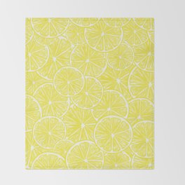 Lemon slices pattern design Throw Blanket