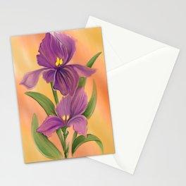 Purple Iris in warm sunshine Stationery Cards