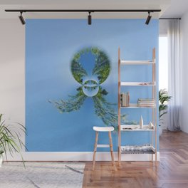blue green planet bug Wall Mural