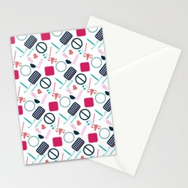 Contraception Pattern Stationery Cards