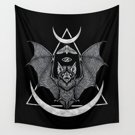 Occult Bat Wall Tapestry