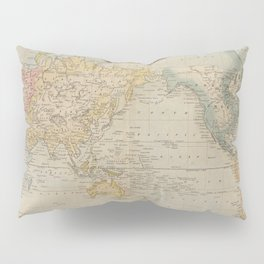 Vintage Map of The World (1823) Pillow Sham