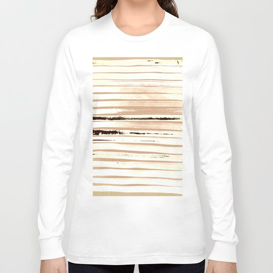 Brown Earth Lines Long Sleeve T-shirt