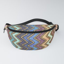 Colorful Gold Chevron Pattern Fanny Pack