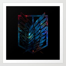 Wings Of Justice: Galaxy Art Print
