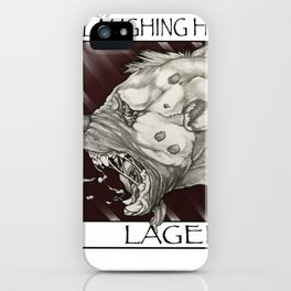 GMDs Laughing Hyena Lager iPhone Case