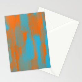 blue and orange painting texture abstract background Stationery Cards