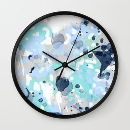 Riley - abstract gender neutral nursery home office dorm decor art abstract painting Wall Clock