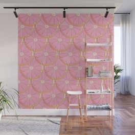 Grape fruit slices in scales Wall Mural