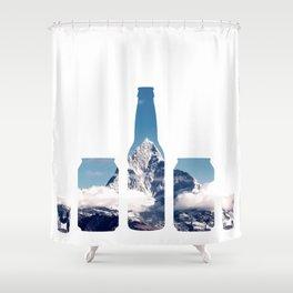 Mountain chug challenge Shower Curtain