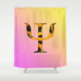 Psychology Psi Sunflower Shower Curtain