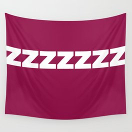 ZZZZZZ on Purple Wall Tapestry