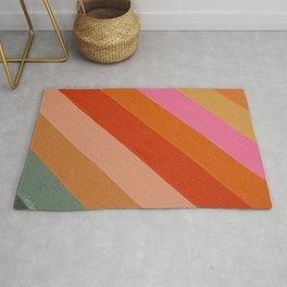 Diagonal Color Blocking – Retro Palette Rug