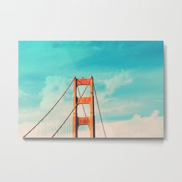 Retro Golden Gate - San Francisco, California Metal Print