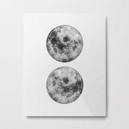 Double Moon Metal Print
